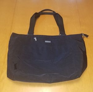 Baggallini black nylon tote bag.